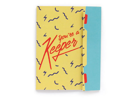 You're a Keeper - Retro Folded Trapper Keepr Greeting card