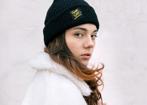 Knit Beanie with Forest Witch Label