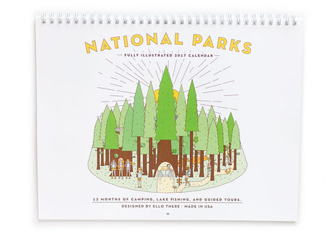 SALE - National Park 2017 Wire Coil Calendar