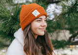 Black Knit Beanie with Friends of Nature Label