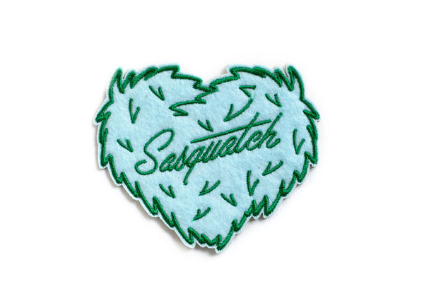 Sasquatch Heart Felt Sticky Patch