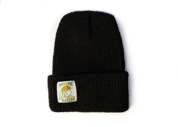 Knit Beanie with Nature Babes Label