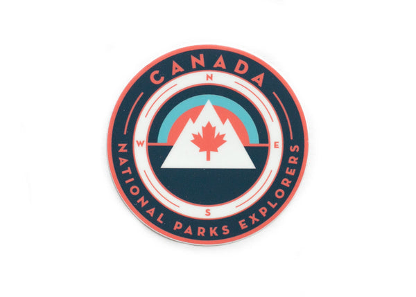 Canada Maple Leaf National Parks Vinyl Sticker