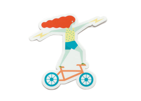 Bicycle Babe Vinyl Sticker