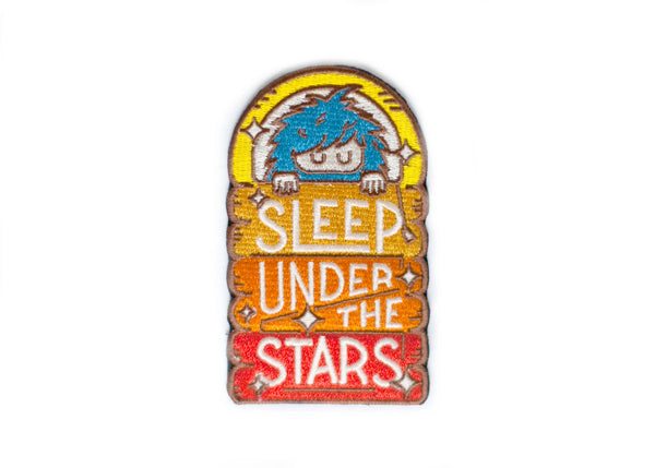 Bigfoot Sleep Under the Stars Sticky Patch