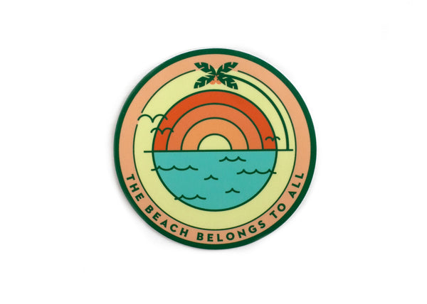 Beach Sunrise Vinyl Sticker