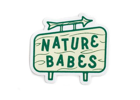 Nature Babes Sign Vinyl Sticker