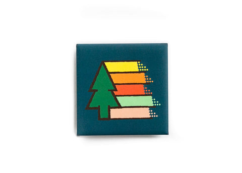 Retro Tree Rainbow soft button