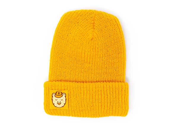 Knit Beanie with Ranger Bear Label