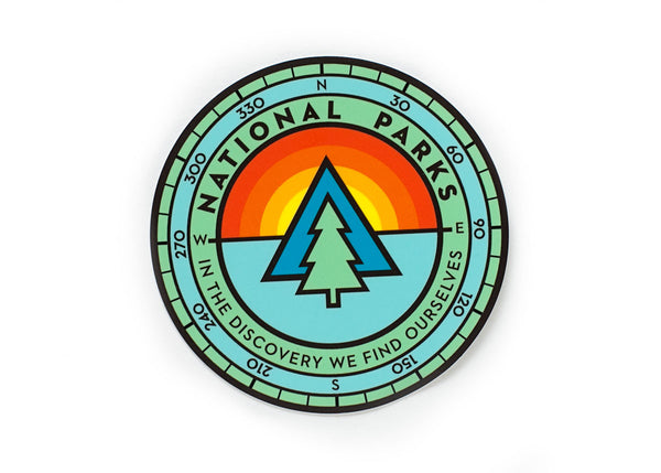 National Park Sunrise Sticker