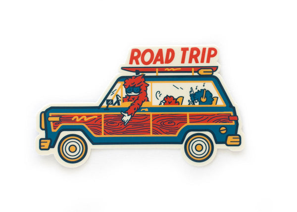 Sasquatch Family Road Trip Vinyl Sticker