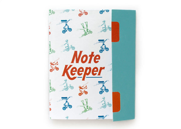 Bicyclist Note Keeper Notebook