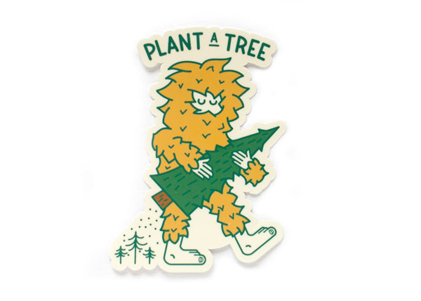 Plant a Tree Sasquatch vinyl sticker