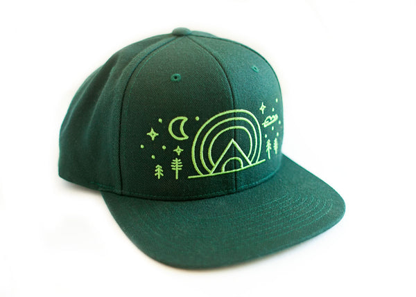 Embroidered Forest Baseball Cap