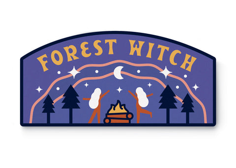 Forest Witch Vinyl Sticker