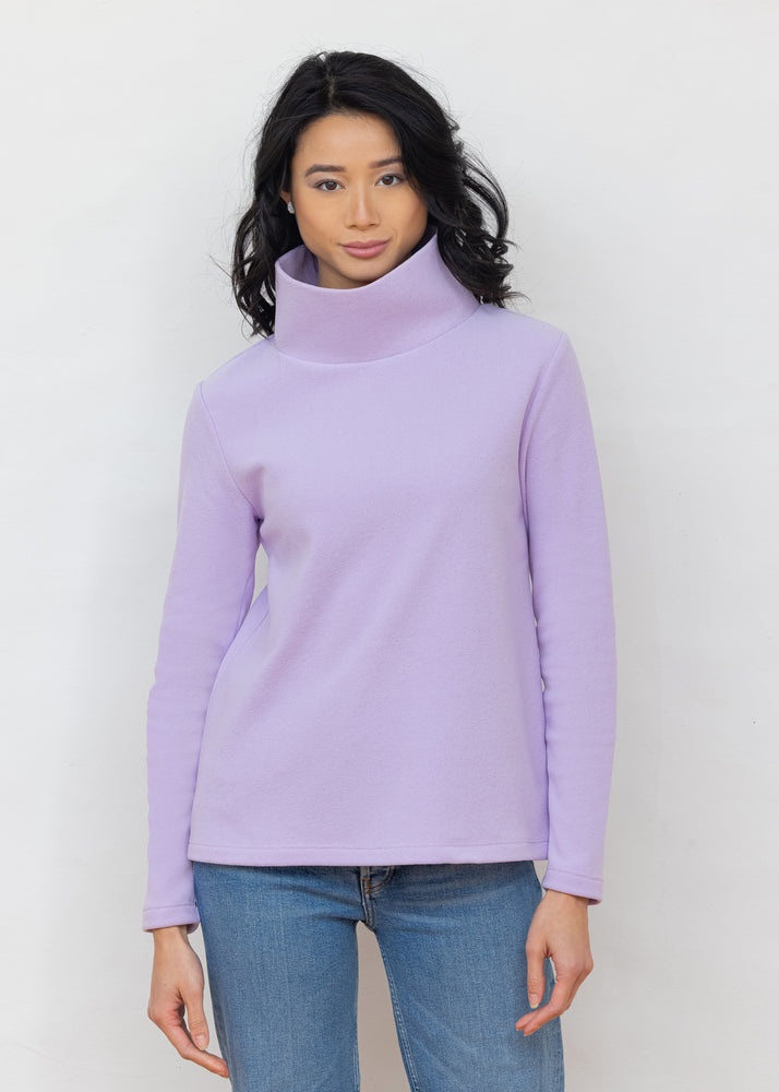 Greenpoint Turtleneck in Terry Fleece (Lavender)