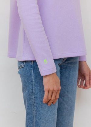 Load image into Gallery viewer, Greenpoint Turtleneck in Terry Fleece (Lavender)