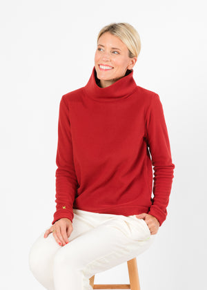 Park Slope Turtleneck (Chili Pepper Red)