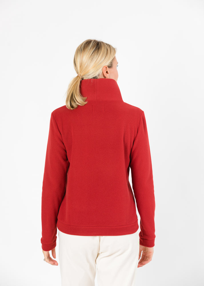 Load image into Gallery viewer, Park Slope Turtleneck (Chili Pepper Red)