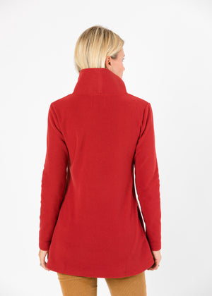 Cobble Hill Turtleneck (Chili Pepper Red)