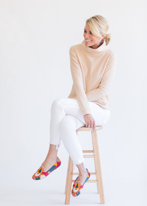 Park Slope Turtleneck in Terry Fleece (Natural Blush) TH