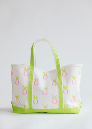 Crab & Cleek Custom Pineapple Tote (Multiple Colors)