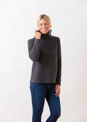 TH - Greenpoint Turtleneck in Vello Fleece (Steel Grey)