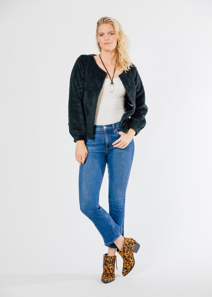 Bijou Bubble Cardigan (Black)