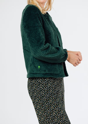 Bijou Bubble Cardigan (Hunter Green)