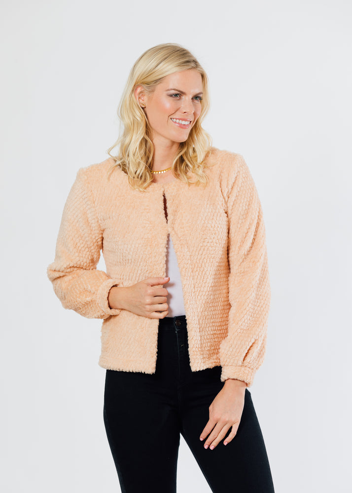 Bijou Bubble Cardigan (Natural Blush)