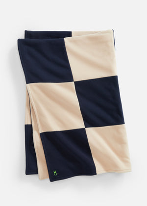 DS Gives Blanket in Vello Fleece (Natural Blush/Navy)