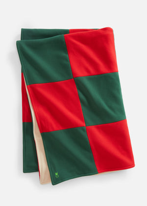 DS Gives Blanket in Vello Fleece (Red/Green)