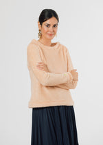 Brighton Boatneck Top in Bubble Fleece (Natural Blush)