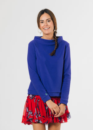 Brighton Boatneck Top (Cobalt)