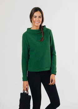 Brighton Boatneck Top (Green)