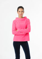 Brighton Boatneck Top (Neon Pink)