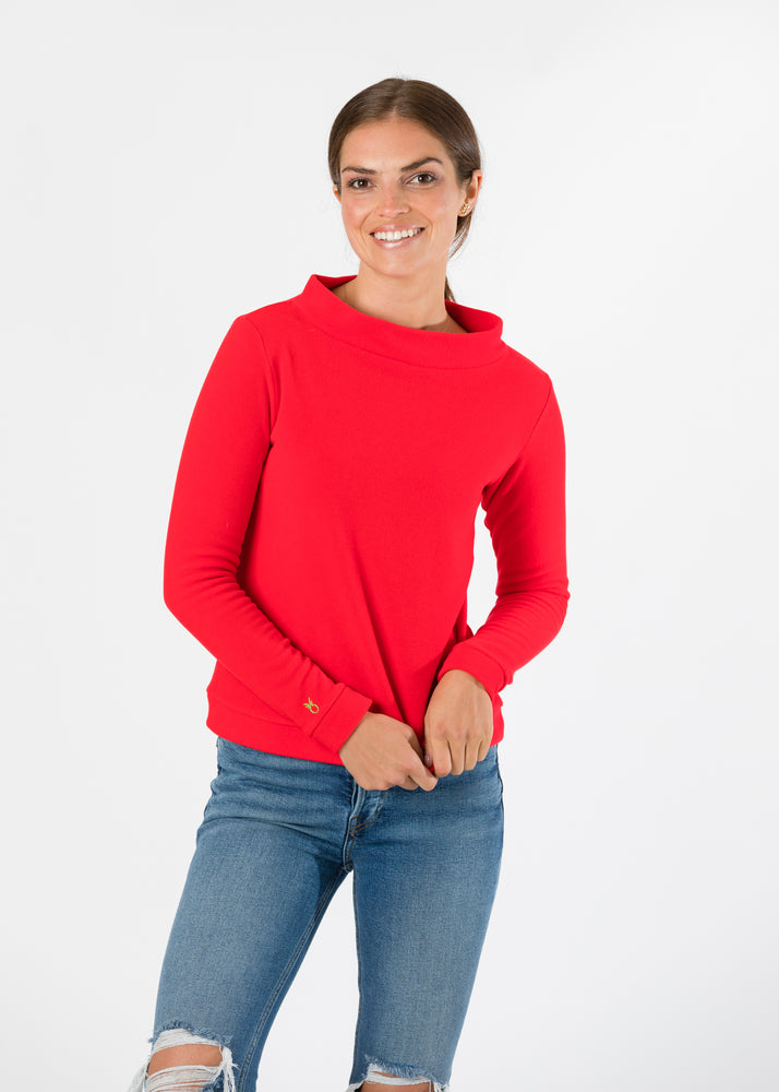 Brighton Boatneck Top (Red)