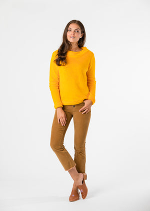 Brighton Boatneck Top in Bubble Fleece (Marigold) TH