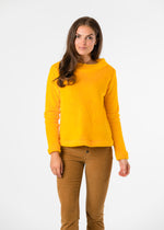 Brighton Boatneck Top in Bubble Fleece (Marigold)