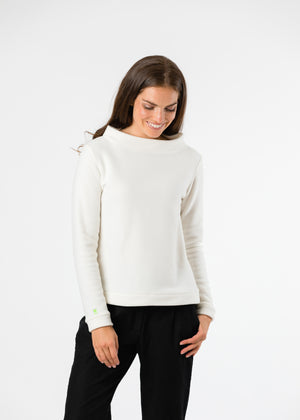 Brighton Boatneck Top (Off-White) TH