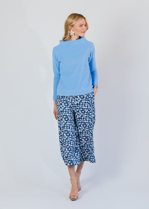 Brighton Boatneck Top (Periwinkle) TH