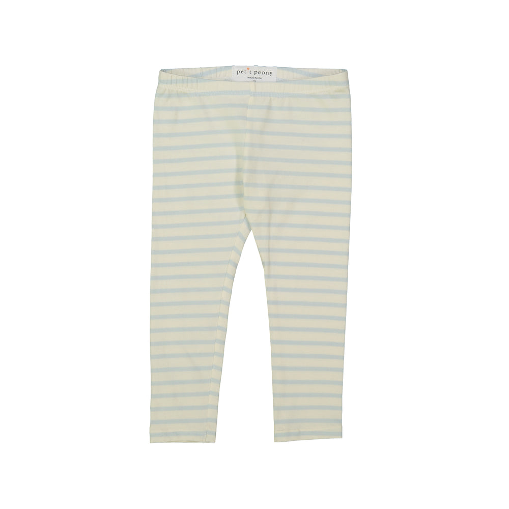 Load image into Gallery viewer, Petit Peony Leggings (Blue Stripe)