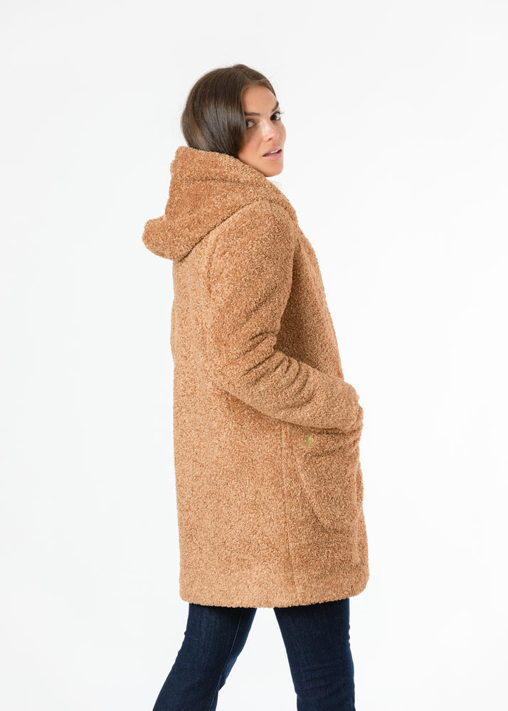 Load image into Gallery viewer, Corbin Car Coat in Brushed Fleece (Caramel)