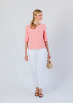 Carroll St Top in Terry Fleece (Island Coral)
