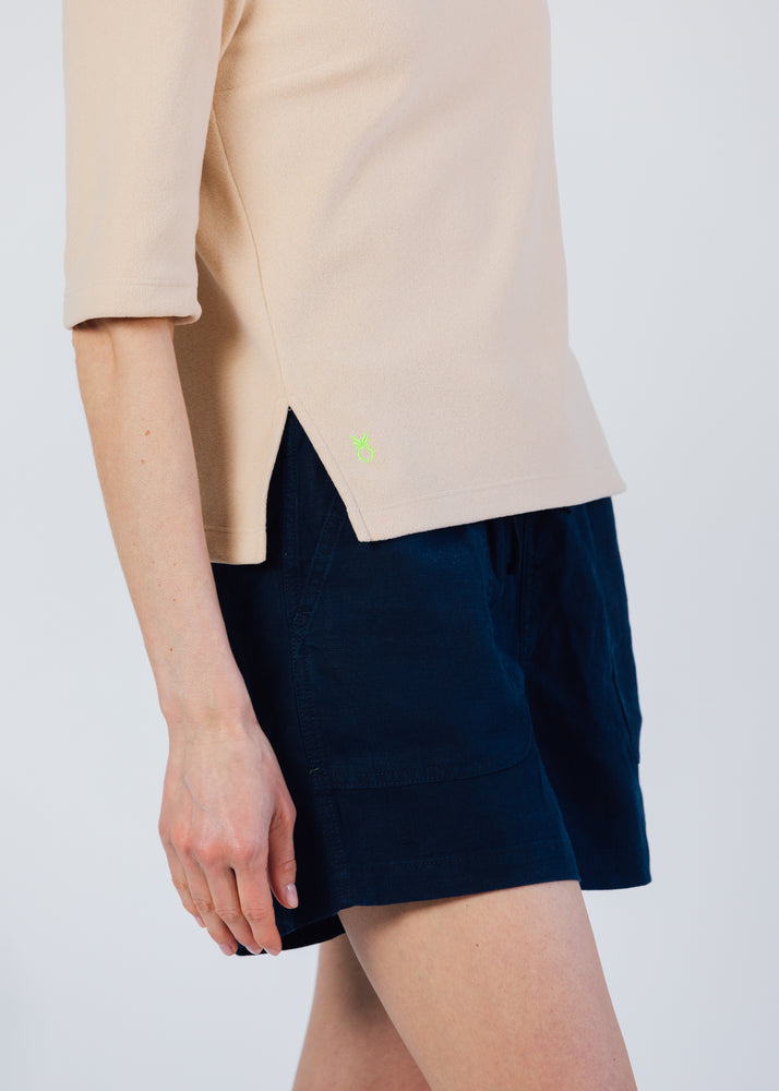Load image into Gallery viewer, Carroll St Top in Terry Fleece (Natural Blush)