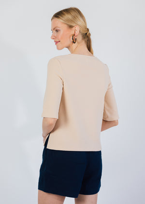 Carroll St Top in Terry Fleece (Natural Blush)