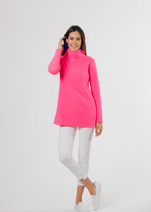 Cobble Hill Turtleneck (Neon Pink) TH