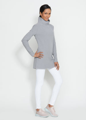 Cobble Hill Turtleneck in Terry Fleece (Heather Grey) TH