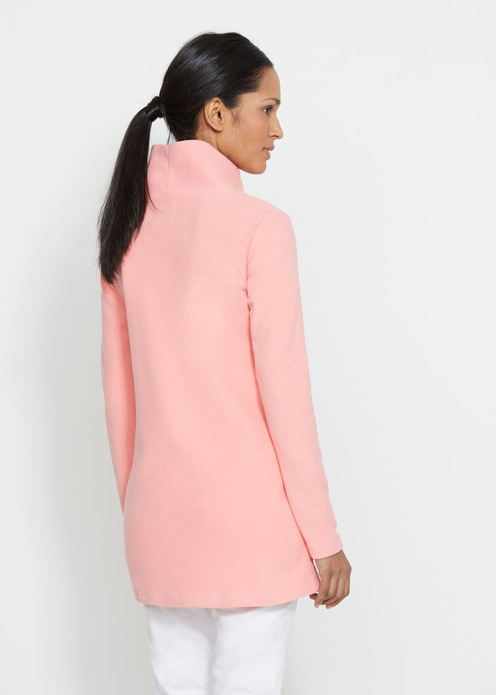 Cobble Hill Turtleneck in Terry Fleece (Island Coral) TH