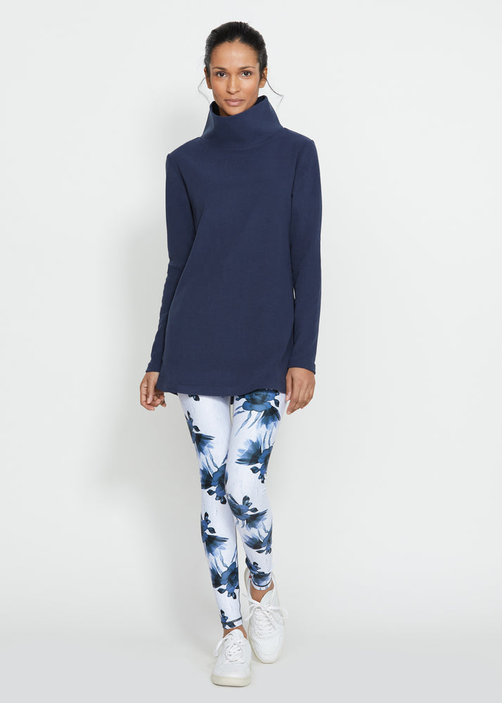 Cobble Hill Turtleneck in Terry Fleece (Navy) TH